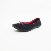 Ines Schuhmoden Leguano Barfußschuhe Ballerina blau rot