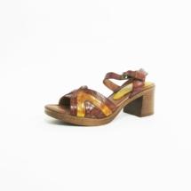 Ines Schuhmoden Sandalette braun gelb