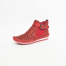 Ines Schuhmoden Sommer Stiefelette Gemini rot