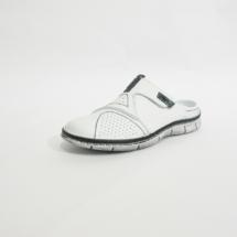 Ines Schuhmoden Damen Pantolette weiß