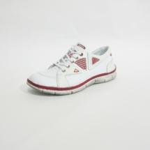 Ines Schuhmoden Halbschuhe weiß rot